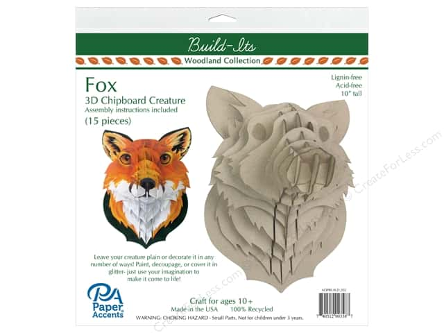 "Paper Accents Build Its Chip Fox 10"" Tall"