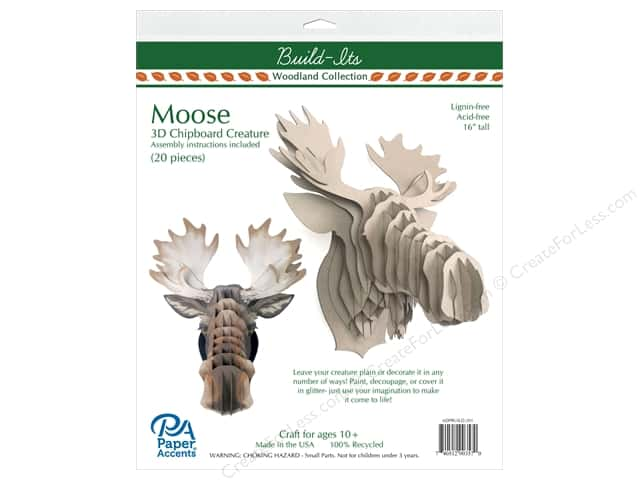 "Paper Accents Build Its Chip Moose 16"" Tall"