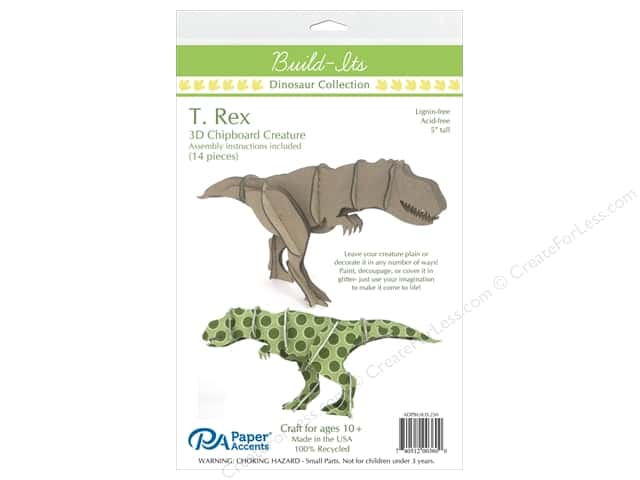 "Paper Accents Build Its Chip T.Rex 5"" Tall"