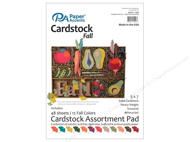 Paper Accents 5 x 7 in. Cardstock Pad 48 pc. Fall