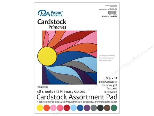 Paper Accents 8 1/2 x 11 in. Cardstock Pad 48 pc. Primary