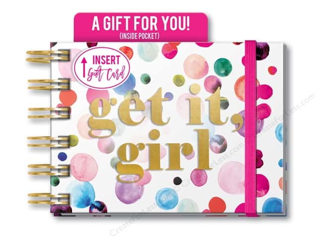Lady Jayne Note Pad Spiral With Pocket Confetti Girl