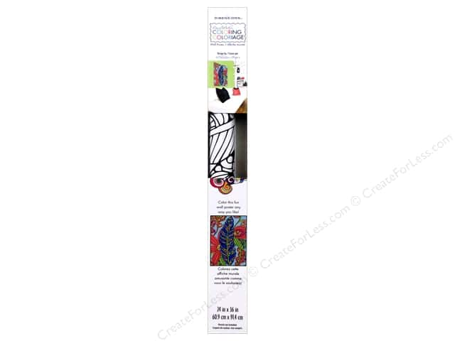 "Dimensions Color By Number 24""x 36"" Poster Feather"