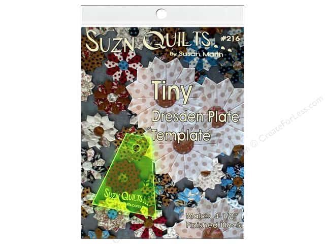 Suzn Quilts Tiny Dresden Plate Template
