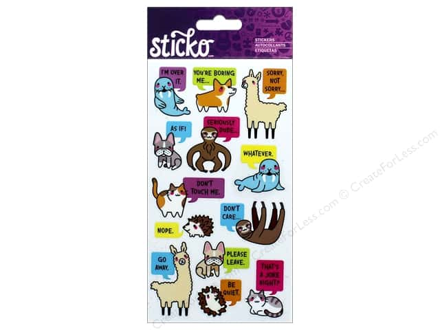 EK Sticko Stickers Sarcastic Animals
