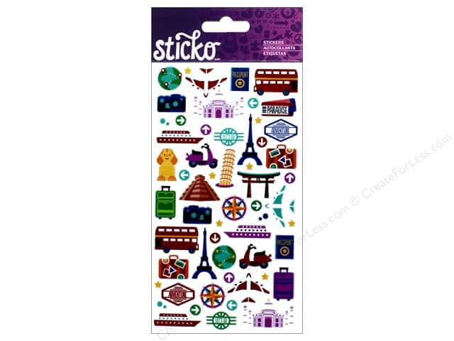 EK Sticko Stickers Mini International Travel Icons