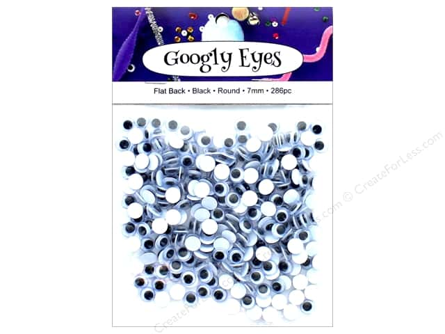 PA Essentials Googly Eyes 1/4 in. Round 286 pc. Black