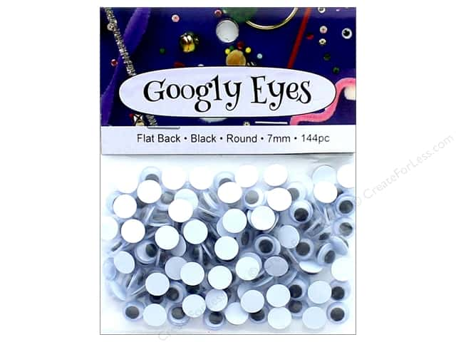 PA Essentials Googly Eyes 1/4 in. Round 144 pc. Black