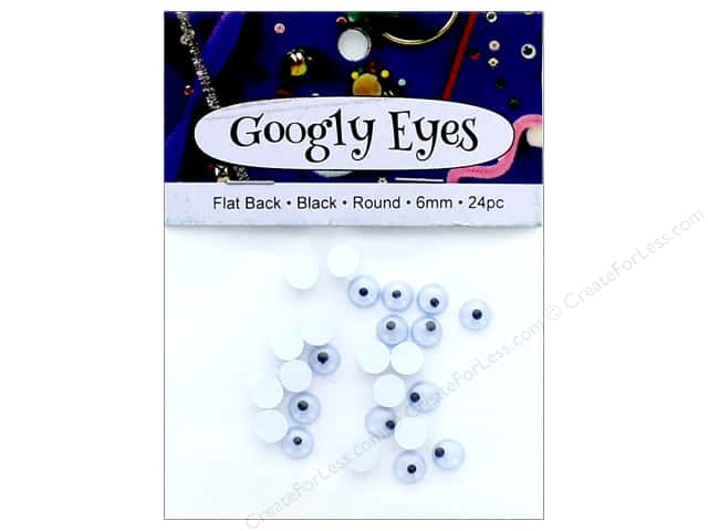 PA Essentials Googly Eyes 1/4 in. Round 24 pc. Black