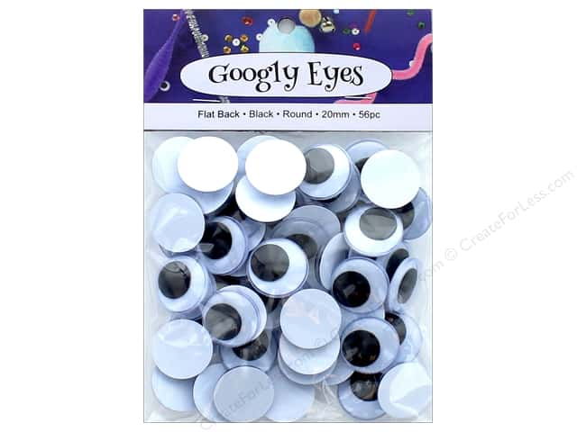 PA Essentials Googly Eyes 13/16 in. Round 56 pc. Black