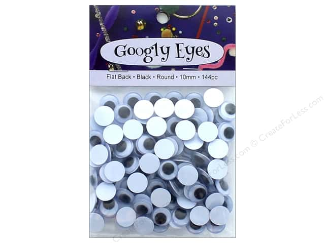 PA Essentials Googly Eyes 3/8 in. Round 144 pc. Black