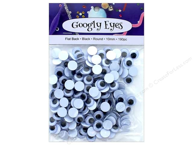 PA Essentials Googly Eyes 3/8 in. Round 190 pc. Black