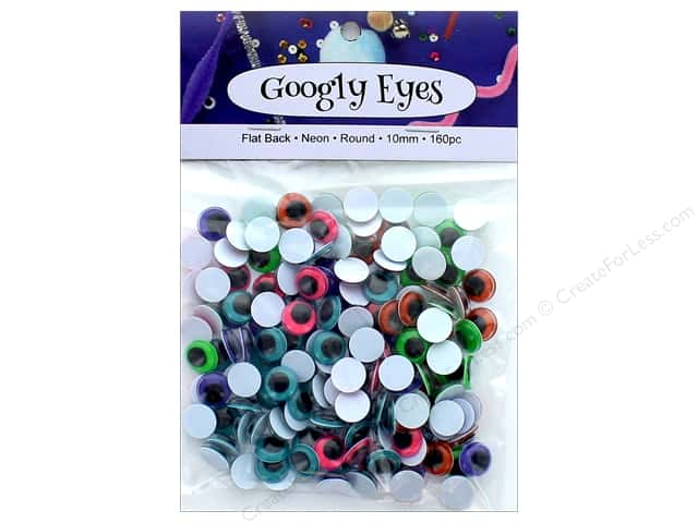 PA Essentials Googly Eyes 3/8 in. Round 160 pc. Neon