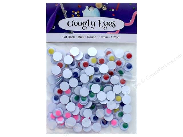 PA Essentials Googly Eyes 3/8 in. Round 152 pc. Multi
