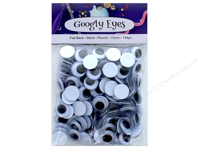 PA Essentials Googly Eyes 5/8 in. Round 144 pc. Black