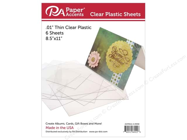 Paper Accents Plastic Sheet 8 1/2 x 11 in. Clear .01 in. 6 pc.