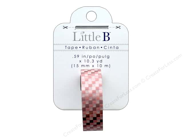 Little B Decorative Paper Tape 5/8 in. Rose Gold Foil Squares