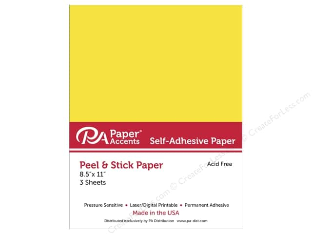 Adhesive Paper by Paper Accents 8 1/2 x 11 in. Yellow 3 pc.