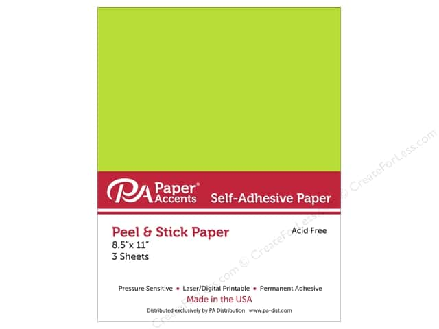Adhesive Paper by Paper Accents 8 1/2 x 11 in. Neon Green 3 pc.