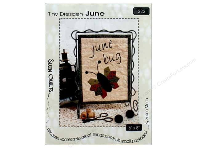 Suzn Quilts Tiny Dresden June Pattern