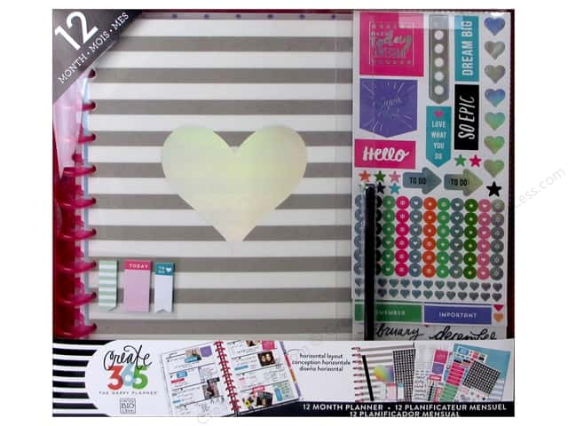 Me & My Big Ideas Create 365 The Happy Planner 12 Month Box Kit - Big Rainbow Foil