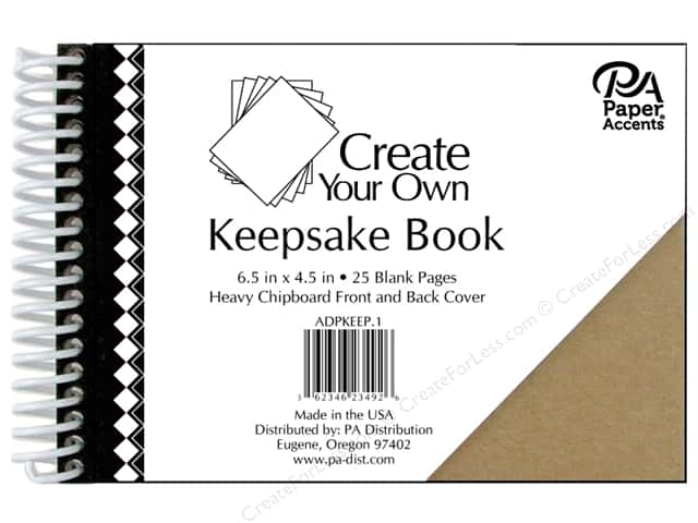 "Paper Accents Create Your Own Keepsake Book 6.5""x 4.5"" 25pg Chipboard Cover"