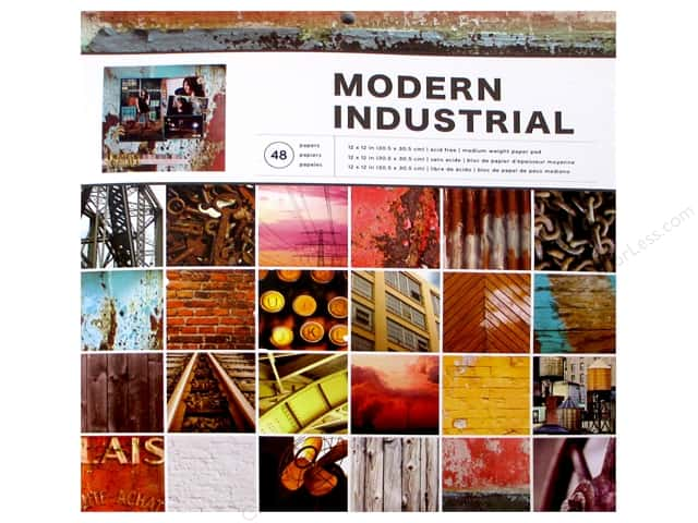 American Crafts 12 x 12 in. Paper Pad Photo Real Modern Industrial