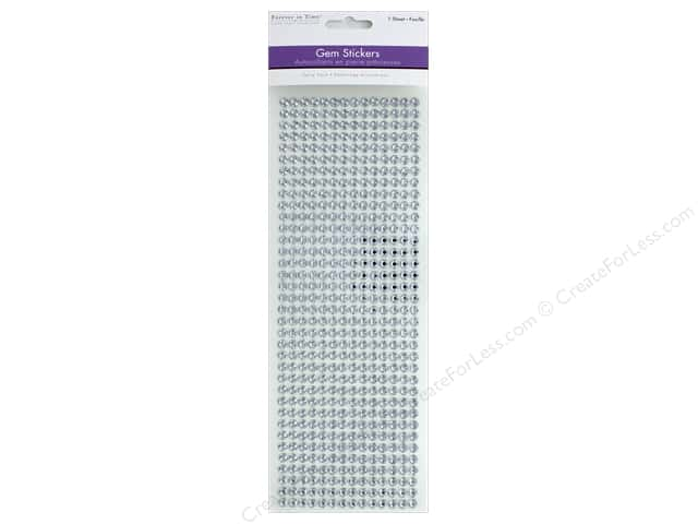 Multicraft Sticker Gem 6mm Value Pack Crystal 504pc