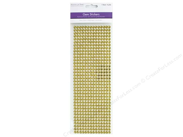 Multicraft Sticker Gem 6mm Value Pack Gold 504pc
