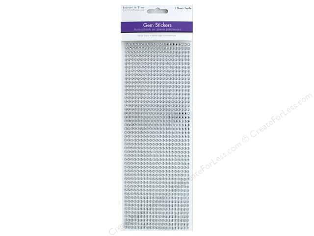 Multicraft Sticker Gem 4mm Value Pack Crystal 1029pc