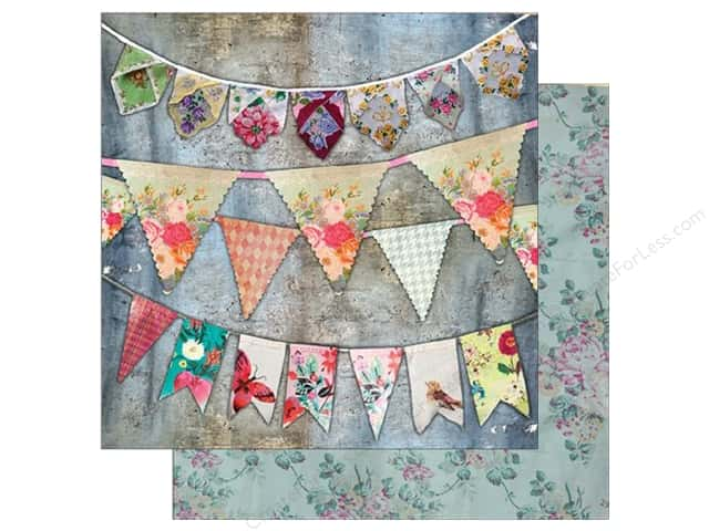 "7 Gypsies Collection Architextures Paper 12""x 12"" Vintage Bunting (15 pieces)"