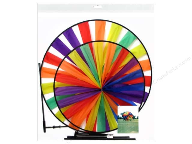 Sierra Pacific Crafts Decor Wind Spinner Nylon Rainbow (6 pieces)