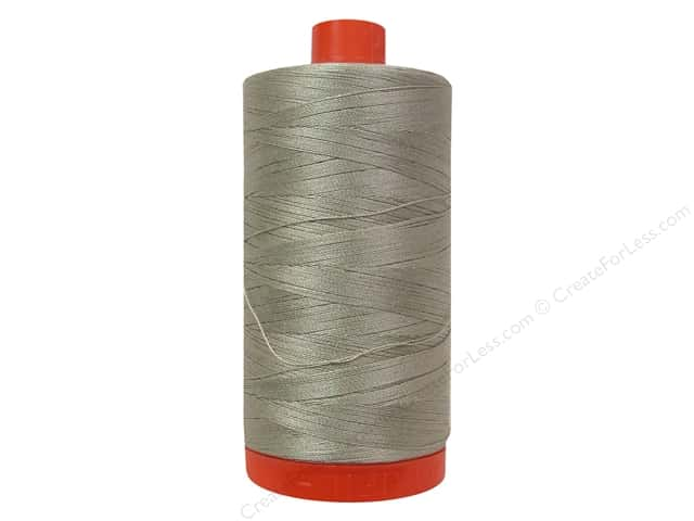 Aurifil Mako Cotton Quilting Thread 50 wt. #5021 Lt Grey 1420 yd.
