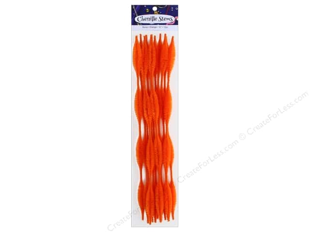 PA Essentials Bump Chenille Stems 15 mm x 12 in. Orange 12 pc.