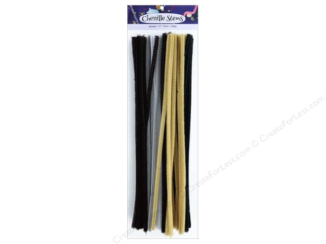 PA Essentials Chenille Stems 6 mm x 12 in. Animal 100 pc.