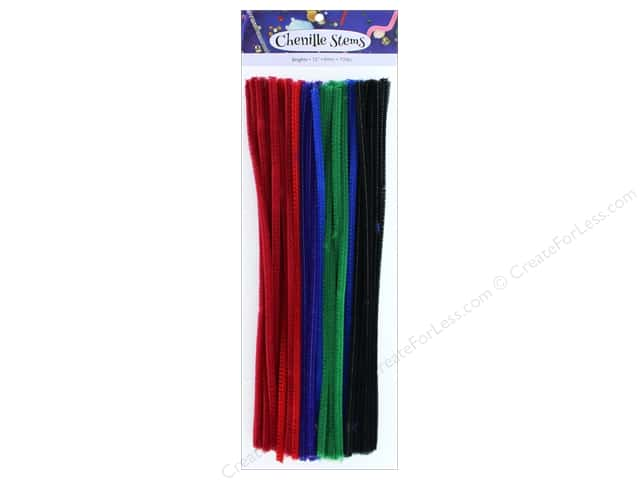 PA Essentials Chenille Stems 6 mm x 12 in. Brights 100 pc.