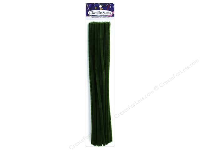 PA Essentials Chenille Stems 6 mm x 12 in. Moss Green 25 pc.