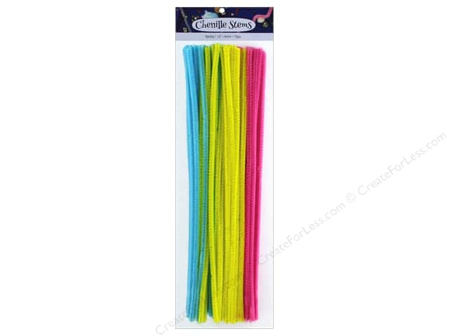 PA Essentials Chenille Stems 6 mm x 12 in. Spring 72 pc.