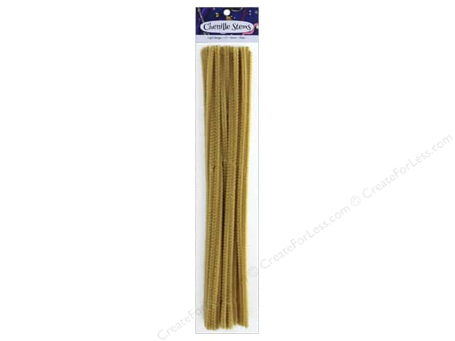 PA Essentials Chenille Stems 6 mm x 12 in. Light Beige 25 pc.