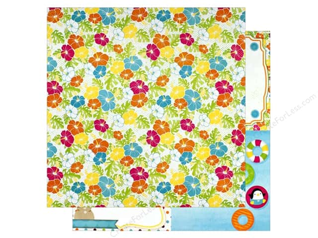 "Bo Bunny Collection Make A Splash Paper 12""x 12"" Smile (25 pieces)"