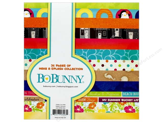 "Bo Bunny Collection Make A Splash Paper Pad 6""x 6"""