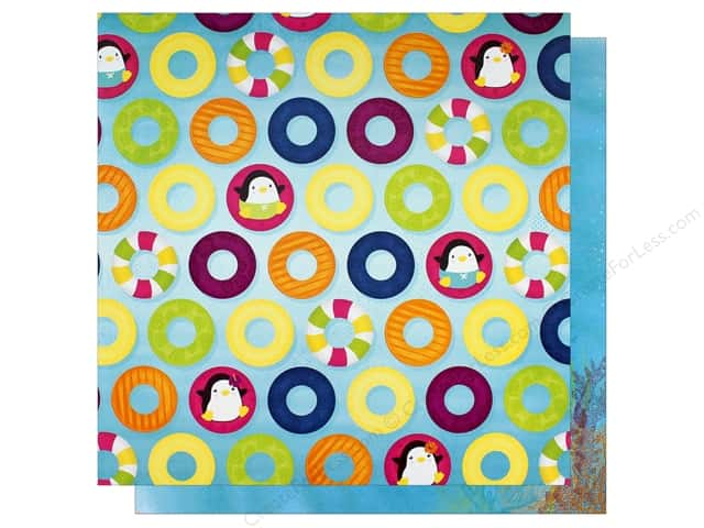 """Bo Bunny Collection Make A Splash Paper 12""""x 12"""" Floating (25 pieces)"""