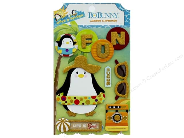 Bo Bunny Collection Make A Splash Layered Chipboard