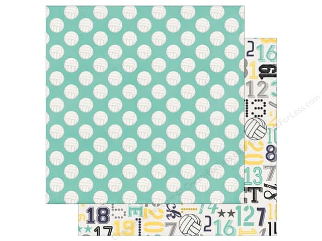 "Simple Stories Collection Volleyball Paper 12""x 12"" Bump Set Spike (25 pieces)"