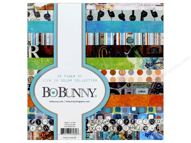 """Bo Bunny Collection Life In Color Paper Pad 6""""x 6"""""""