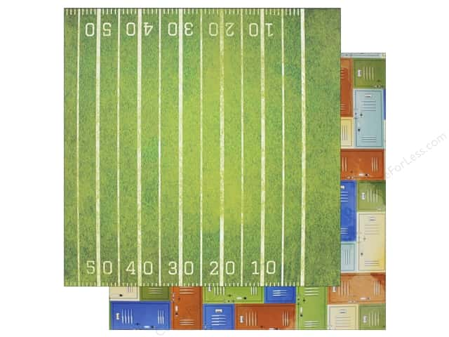 "Bo Bunny Collection Game On Paper 12""x 12"" 1st Down (25 pieces)"