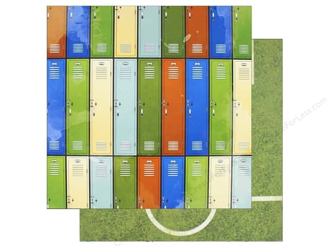 "Bo Bunny Collection Game On Paper 12""x 12"" Lockers (25 pieces)"