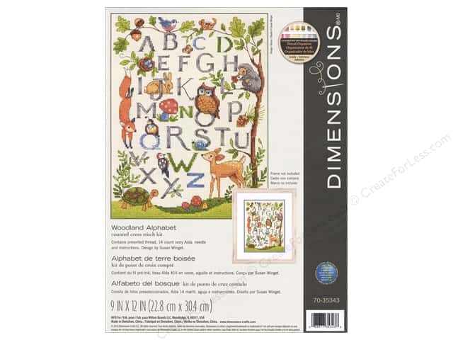 Dimensions Cross Stitch Kit Woodland Alphabet