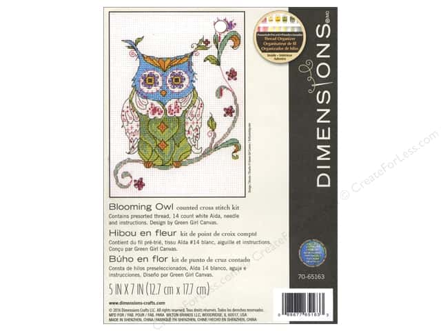 Dimensions Cross Stitch Kit Blooming Owl
