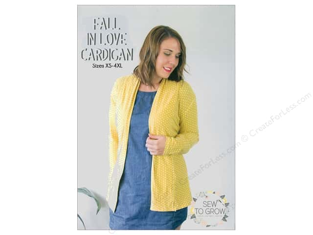 Sew To Grow Fall In Love Cardigan Sizes XS-4XL Pattern